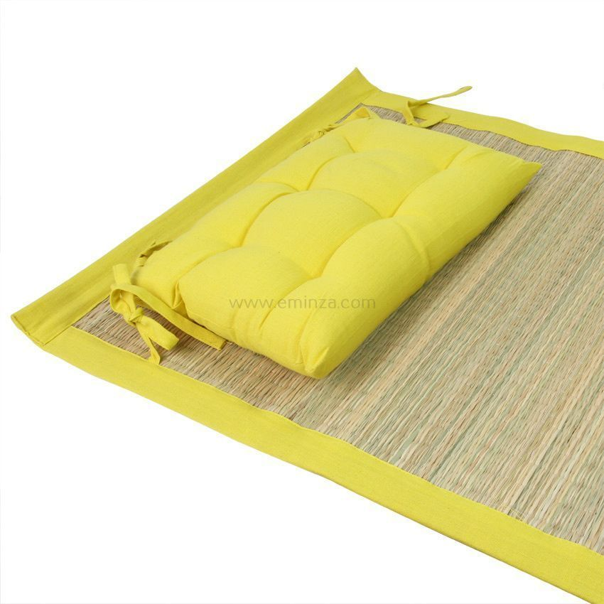 natte de plage luxe jaune mobilier de camping eminza. Black Bedroom Furniture Sets. Home Design Ideas