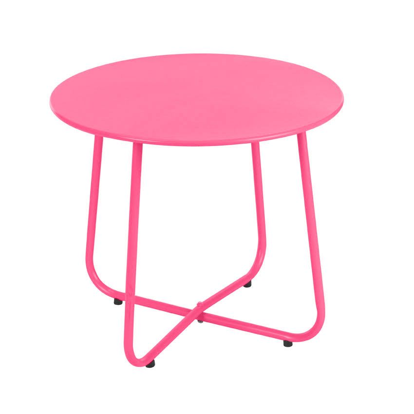 Table d 39 appoint simeo rose meuble d 39 appoint eminza - Table jardin rose toulon ...