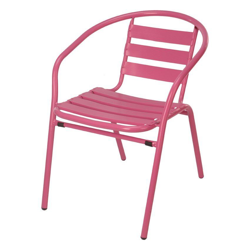 Fauteuil de jardin Philadelphie Rose - Chaise et fauteuil de ...