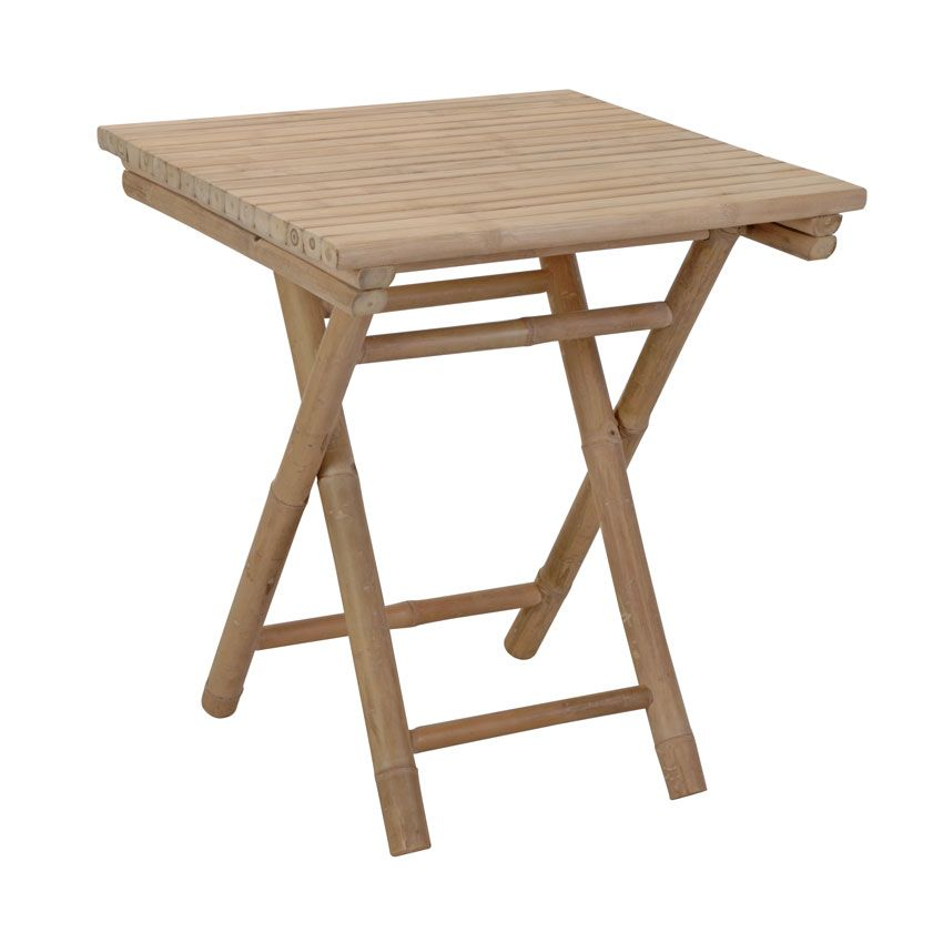Table d 39 appoint pliante bambou carr e meuble d 39 appoint - Table d appoint carree ...