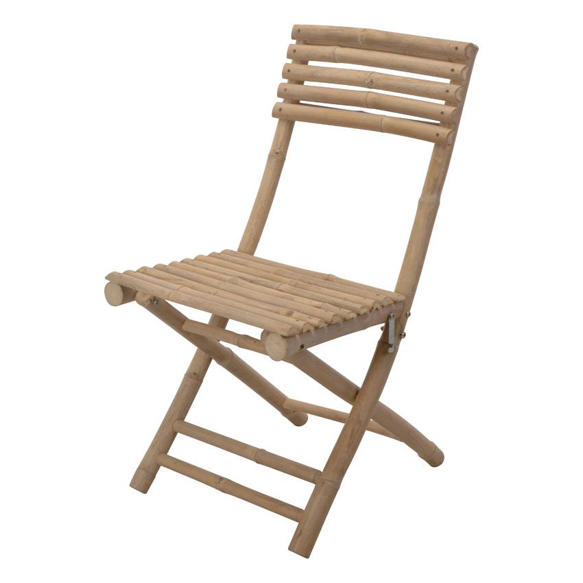 Lot de 2 chaises de jardin pliantes bambou chaise et for Lot chaise de jardin