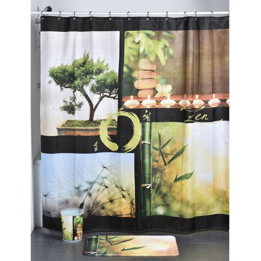 rideau de douche nature zen premium rideau de douche. Black Bedroom Furniture Sets. Home Design Ideas