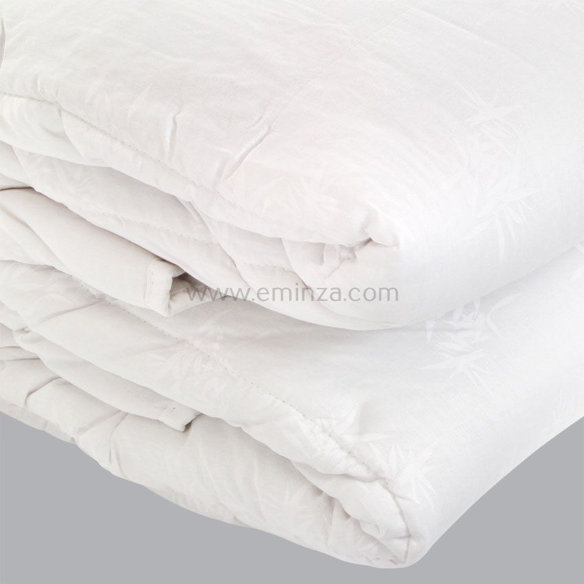 couette 240 cm bambou blanc couette eminza. Black Bedroom Furniture Sets. Home Design Ideas