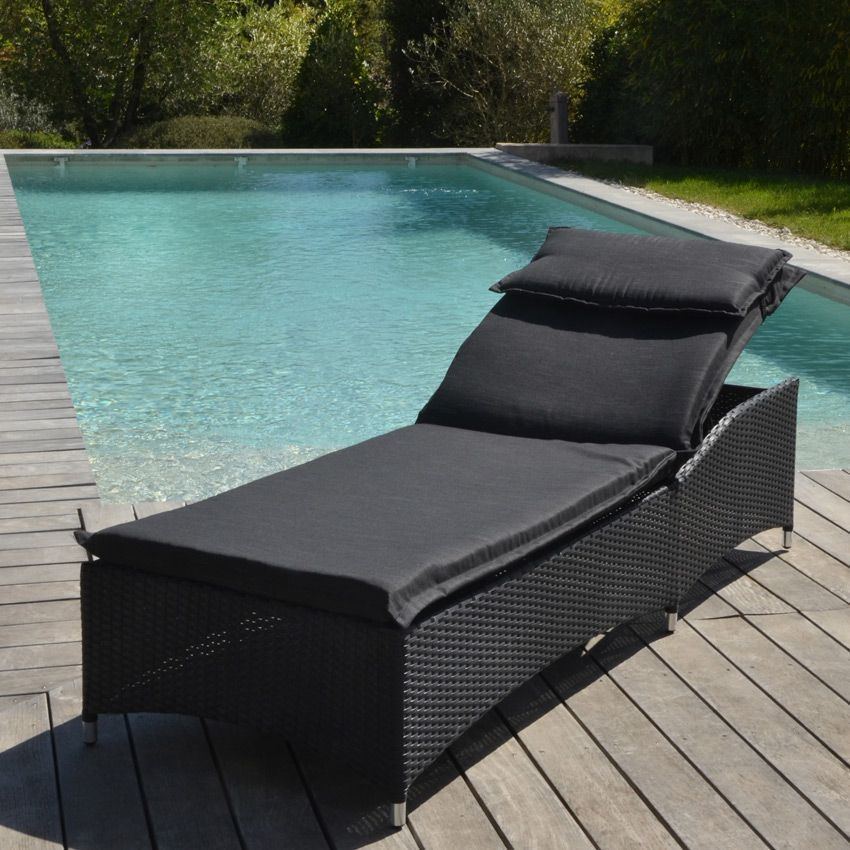 bain de soleil livorno noir bain de soleil eminza. Black Bedroom Furniture Sets. Home Design Ideas