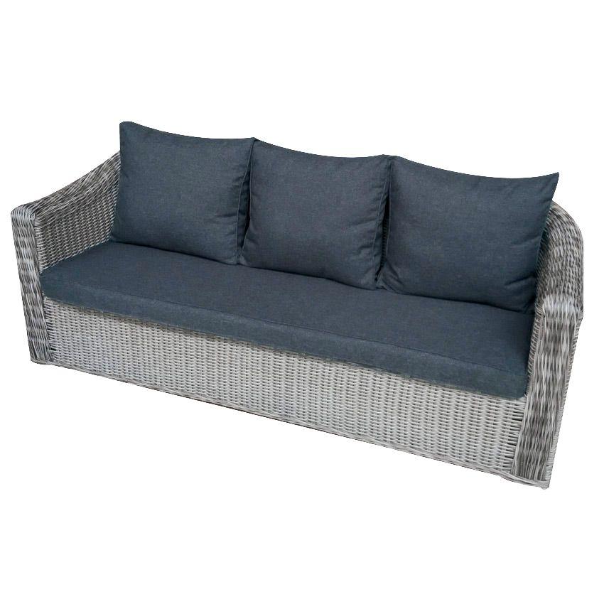 canap de jardin 3 places giglio gris gris anthracite salon composer eminza. Black Bedroom Furniture Sets. Home Design Ideas