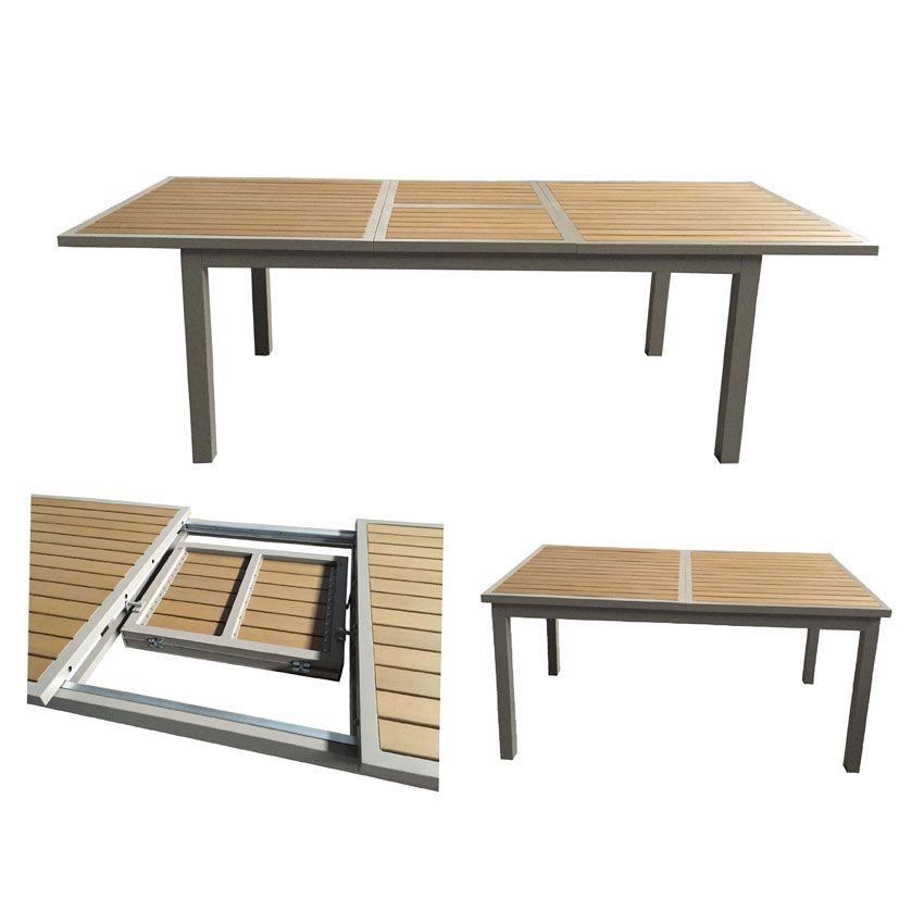 Salon de jardin amazonia taupe 9 pi ces salon de jardin repas et bar eminza Table de jardin plastique taupe