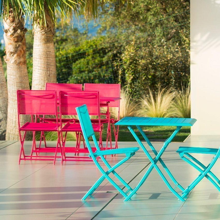 Chaise de jardin modula cerise chaise et fauteuil de for Chaise et fauteuil de jardin