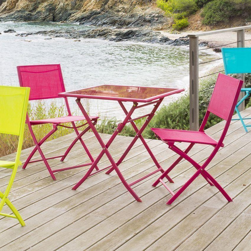 chaise de jardin modula cerise chaise et fauteuil de jardin eminza. Black Bedroom Furniture Sets. Home Design Ideas