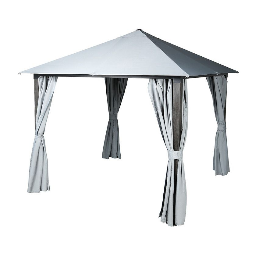 tonnelle ad la de gris cendr tonnelle et pergola eminza. Black Bedroom Furniture Sets. Home Design Ideas