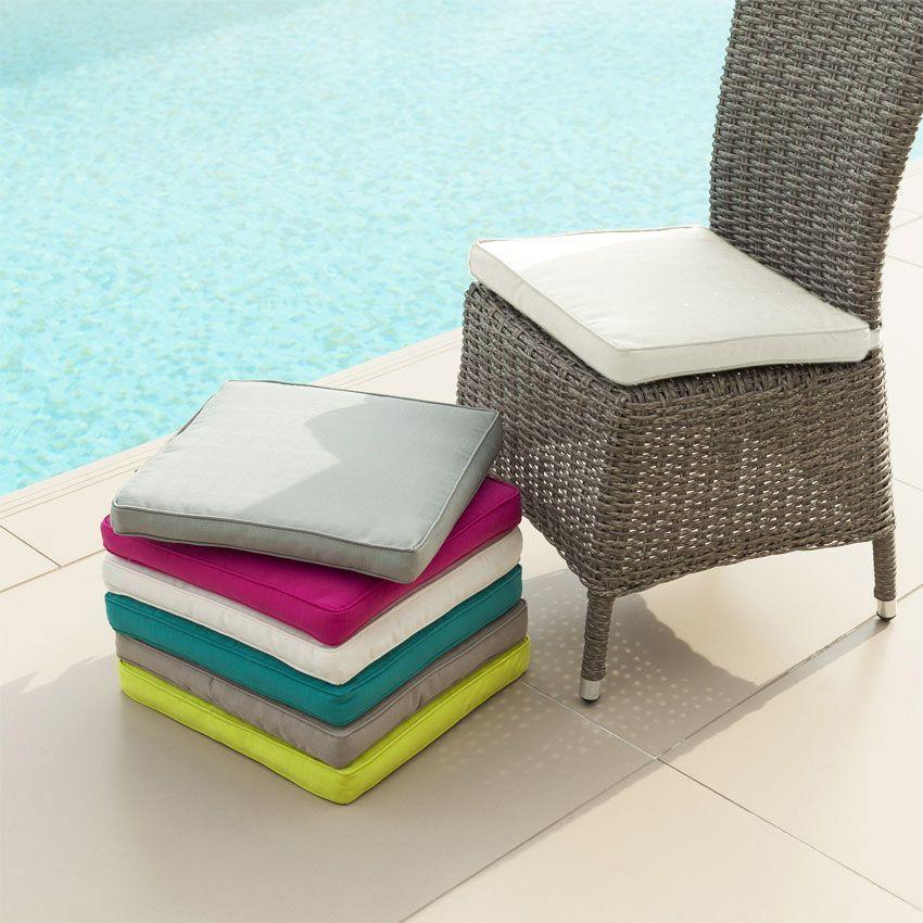 coussin de chaise river blanc coussin de chaise eminza. Black Bedroom Furniture Sets. Home Design Ideas