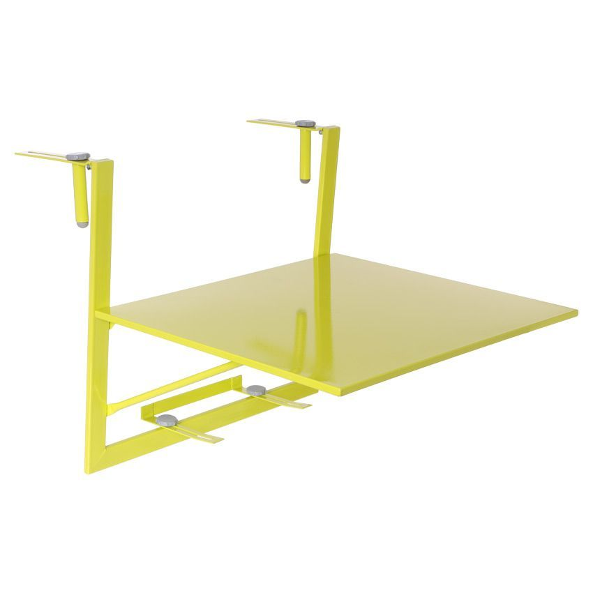 tablette de balcon rabattable baltra 60 x 53 cm granny table de jardin eminza. Black Bedroom Furniture Sets. Home Design Ideas