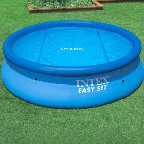 B che bulles d 2 44 m pour piscine ronde intex for Piscine gonflable intex ronde