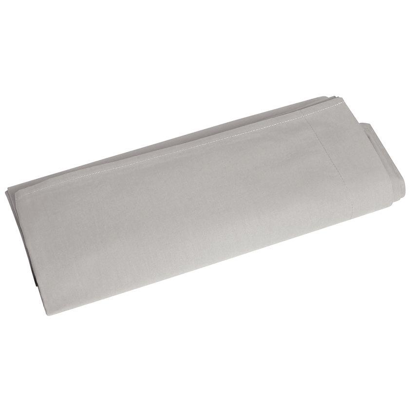 drap plat 270 cm temple gris drap plat eminza. Black Bedroom Furniture Sets. Home Design Ideas