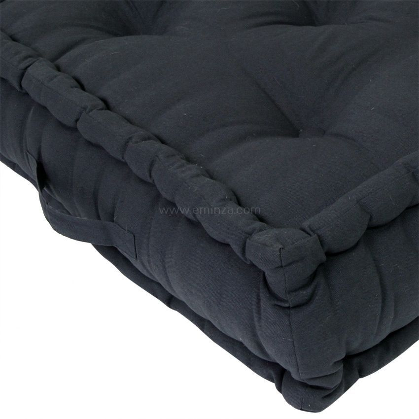 grand coussin de sol 60 cm etna anthracite coussin de sol et pouf eminza. Black Bedroom Furniture Sets. Home Design Ideas