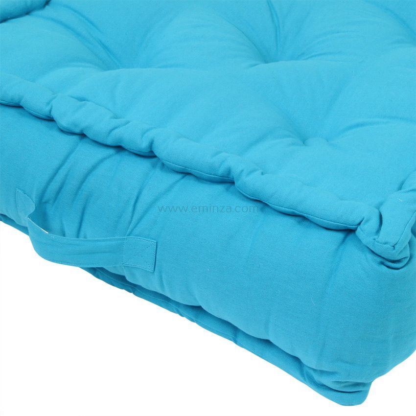 grand coussin de sol 60 cm turquoise coussin de sol et. Black Bedroom Furniture Sets. Home Design Ideas