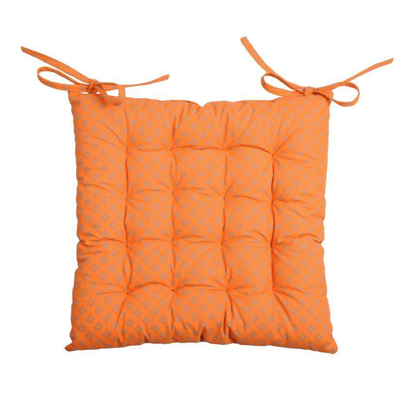 coussin de chaise charles orange galette et coussin de chaise eminza. Black Bedroom Furniture Sets. Home Design Ideas