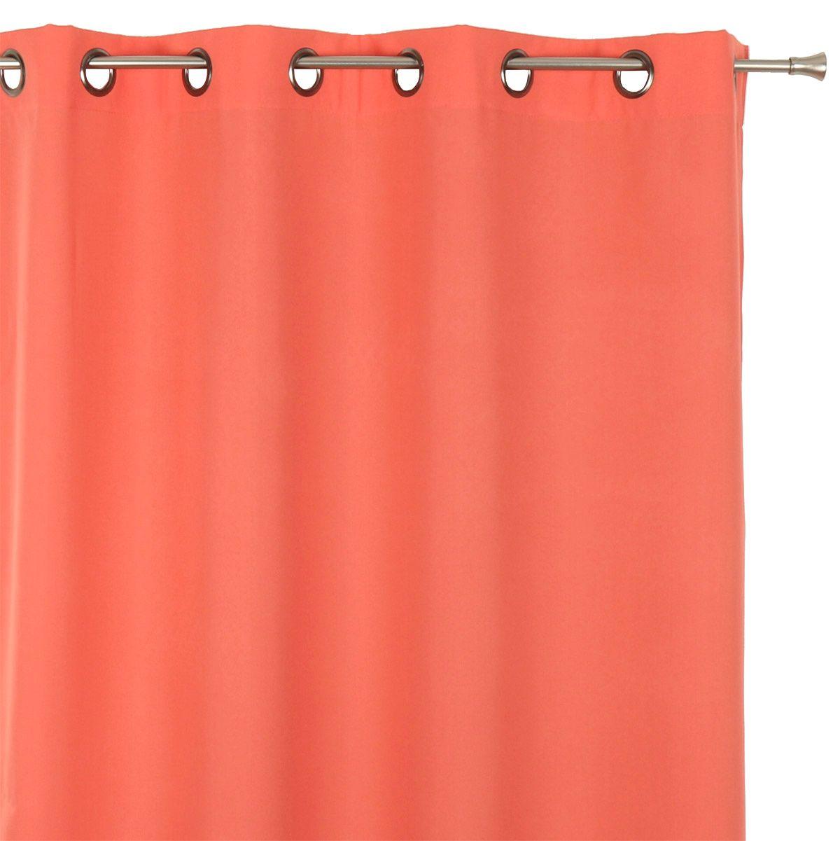 rideau tamisant 135 x h240 cm nelson corail rideau