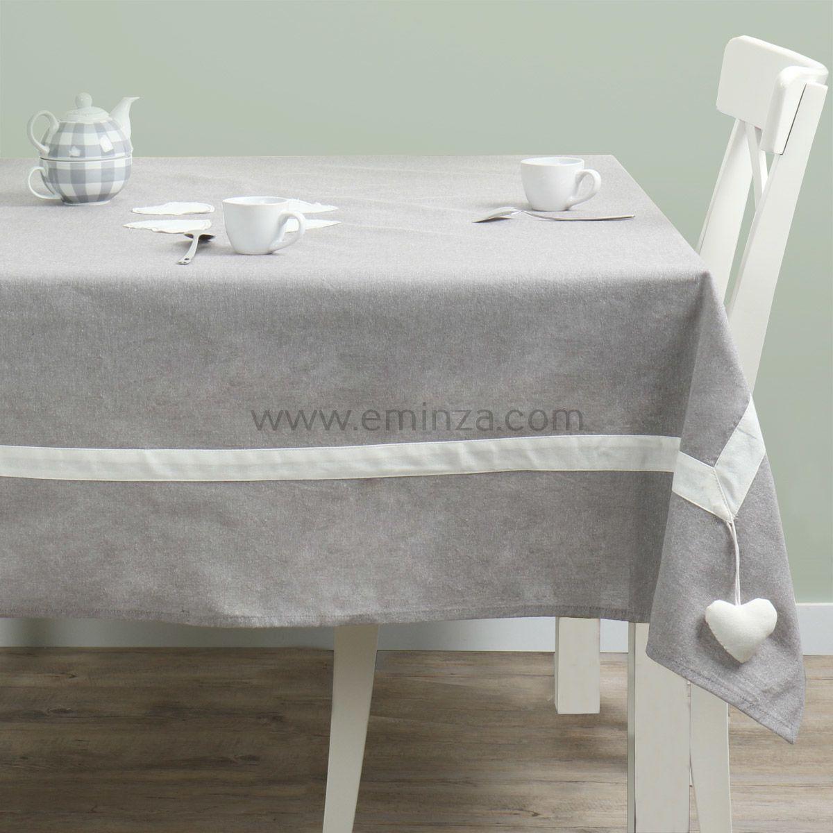 nappe carr e joliesse gris nappe de table eminza. Black Bedroom Furniture Sets. Home Design Ideas