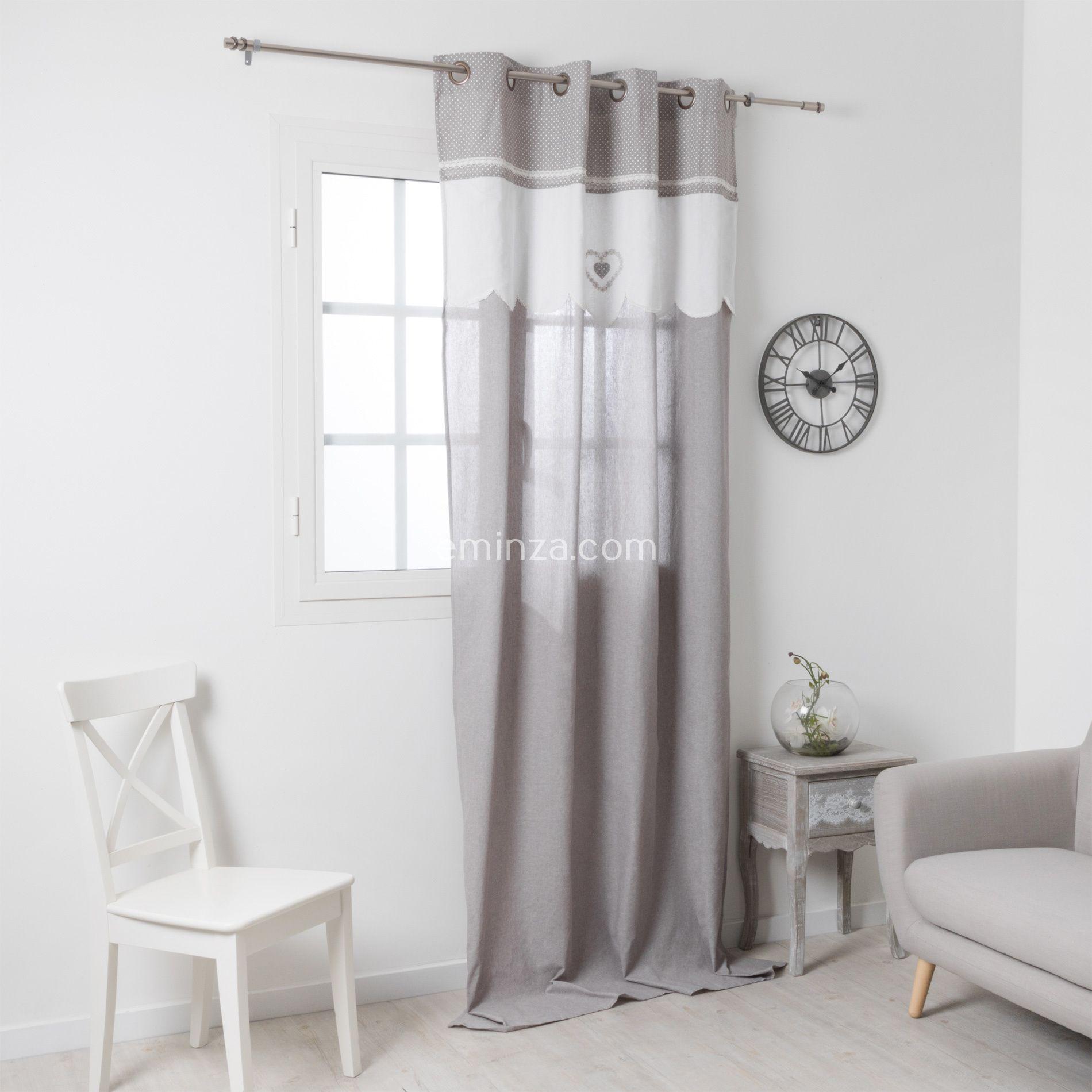 Rideau tamisant 135 x h260 cm verone lin rideau tamisant eminza for Rideau maison