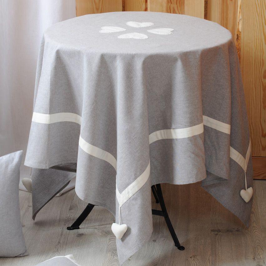 nappe rectangulaire l250 cm joliesse gris nappe de. Black Bedroom Furniture Sets. Home Design Ideas