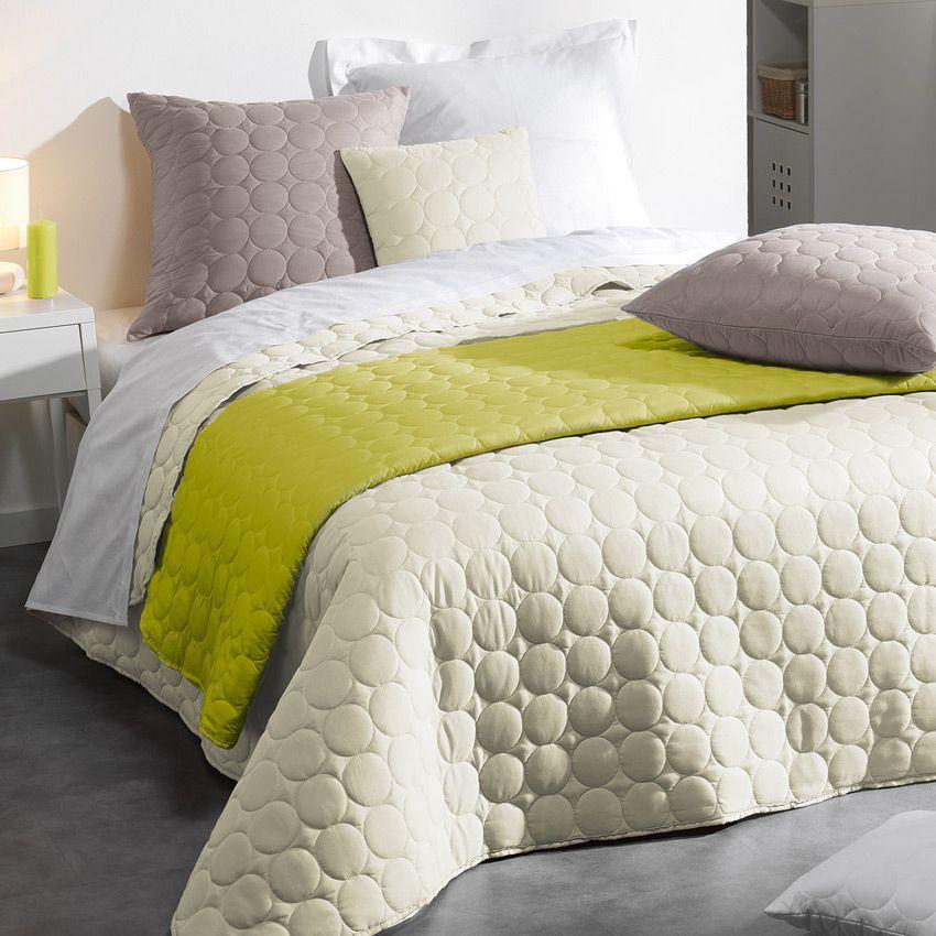 couvre lit 220 x 240 cm candy naturel couvre lit boutis eminza. Black Bedroom Furniture Sets. Home Design Ideas