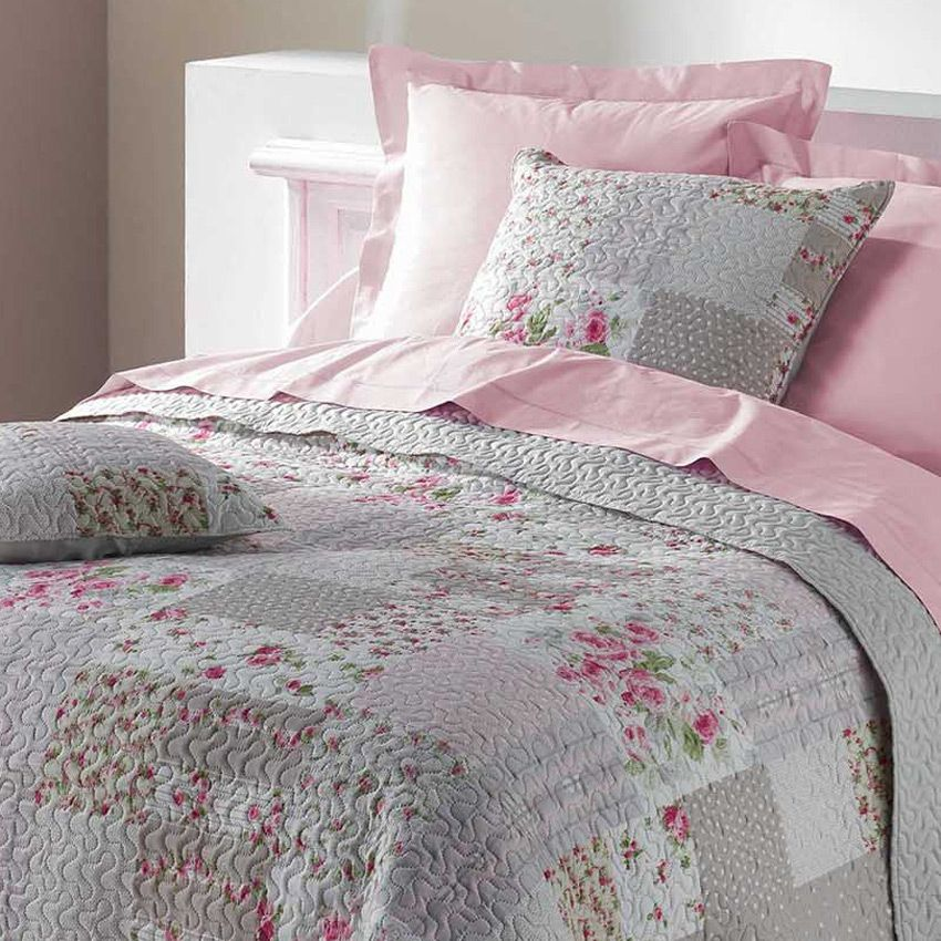 couvre lit 220 x 240 cm apolline couvre lit boutis eminza. Black Bedroom Furniture Sets. Home Design Ideas