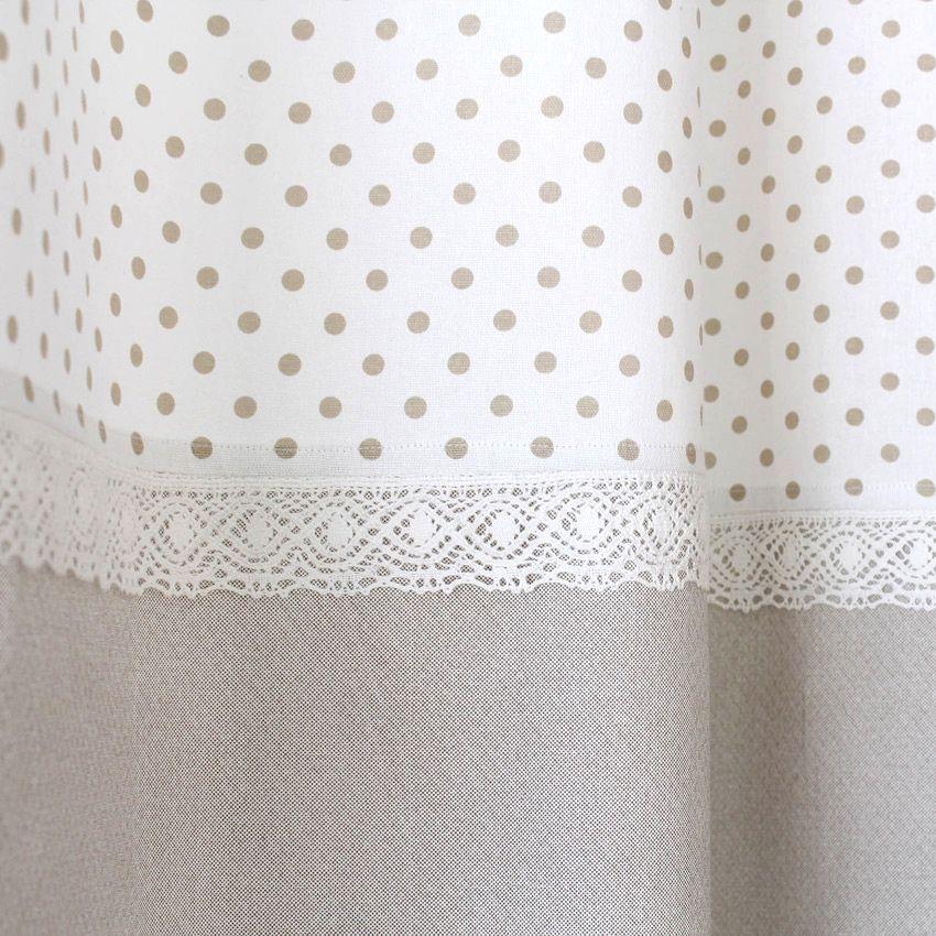 Rideau tamisant 140 x h240 cm romantique dentelle lin rideau tamisant eminza - Rideau dentelle romantique ...