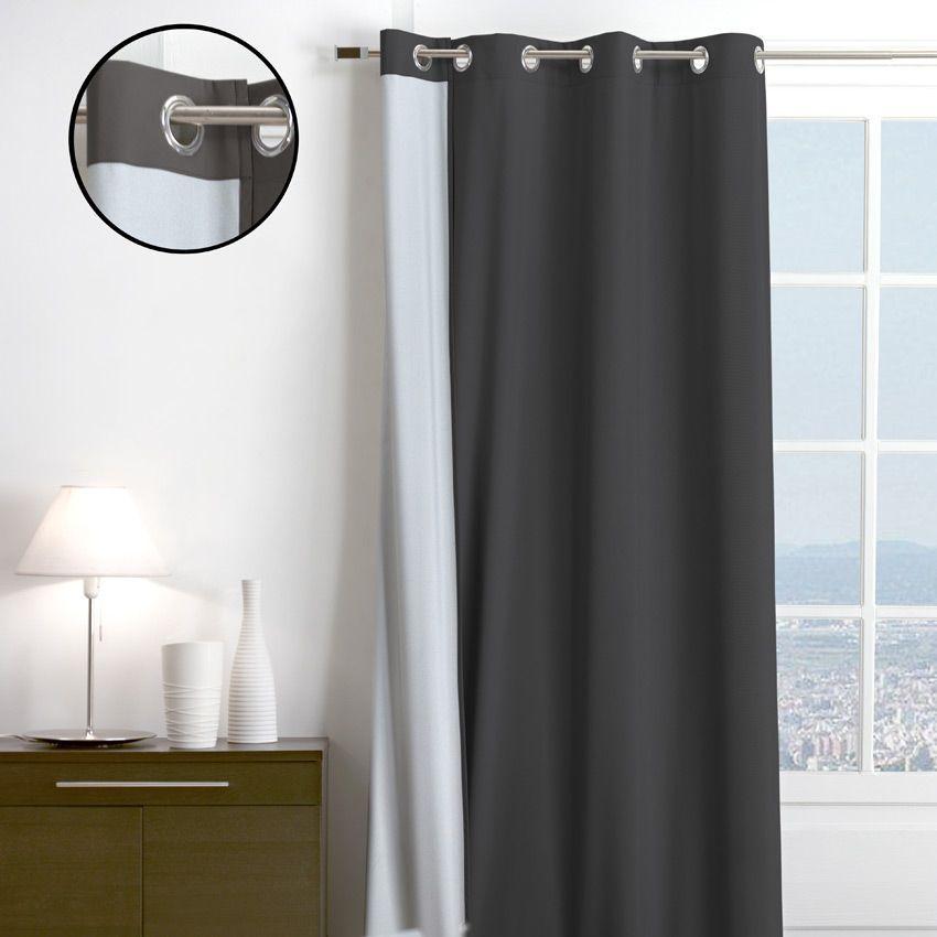 rideau thermique 140 x h250 cm sun anthracite rideau. Black Bedroom Furniture Sets. Home Design Ideas
