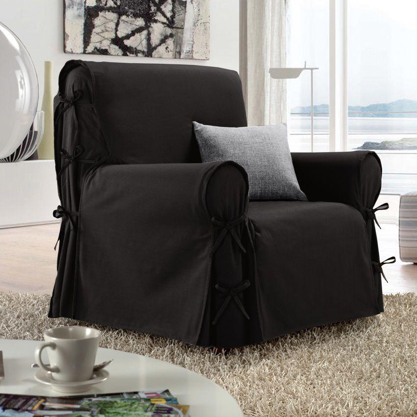 housse de fauteuil victoria anthracite housse de fauteuil eminza. Black Bedroom Furniture Sets. Home Design Ideas