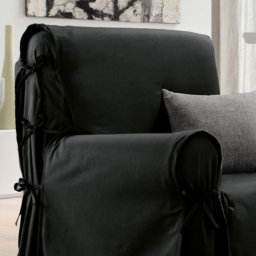 housse de fauteuil victoria noir housse de fauteuil eminza. Black Bedroom Furniture Sets. Home Design Ideas