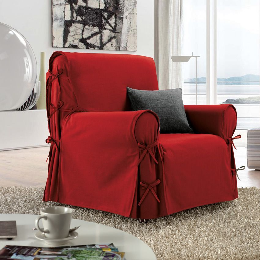housse de fauteuil victoria rouge housse de fauteuil. Black Bedroom Furniture Sets. Home Design Ideas
