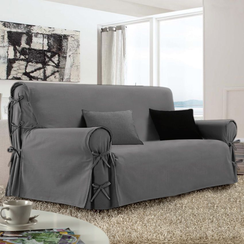 housse de canap 3 places victoria gris housse de canap. Black Bedroom Furniture Sets. Home Design Ideas