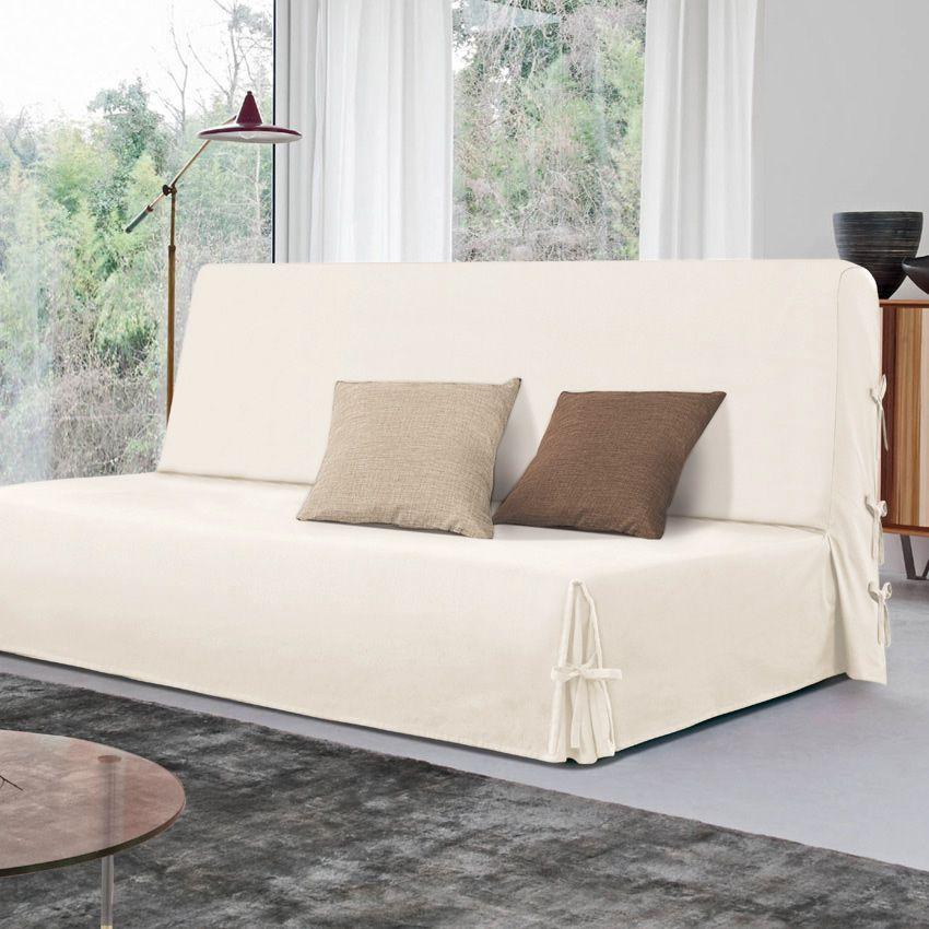 housse de clic clac victoria naturel housse de clic clac. Black Bedroom Furniture Sets. Home Design Ideas