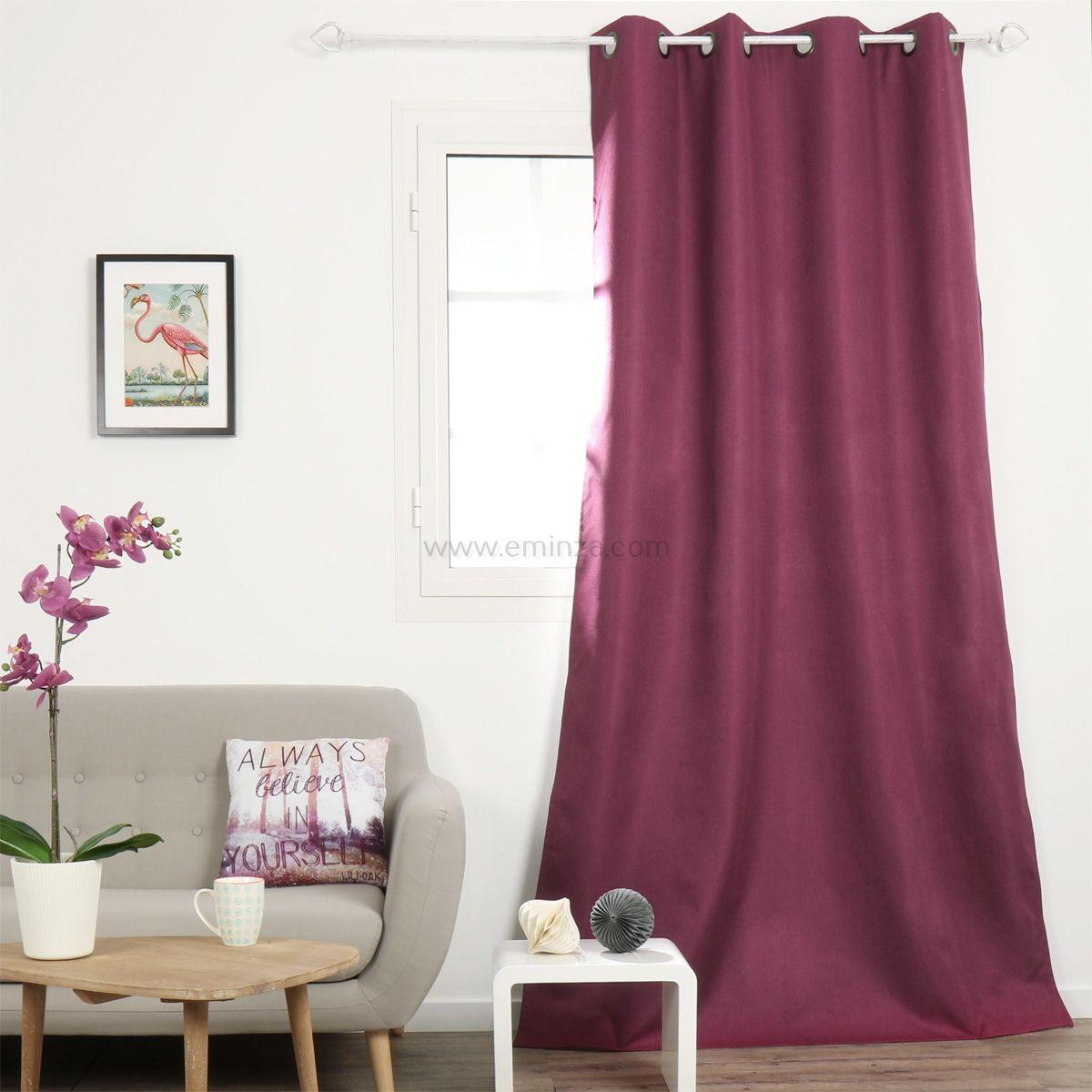 Rideau occultant   violet   rideau et voilage   eminza