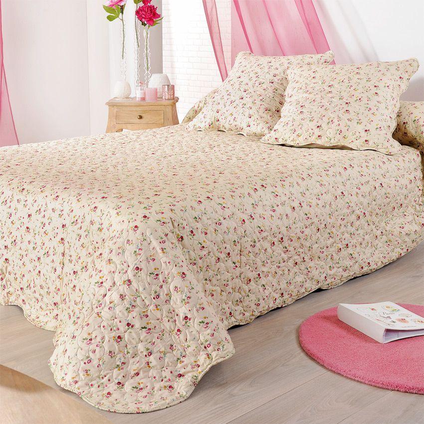 boutis et taie d 39 oreiller 180 x 240 cm fanny couvre lit boutis eminza. Black Bedroom Furniture Sets. Home Design Ideas