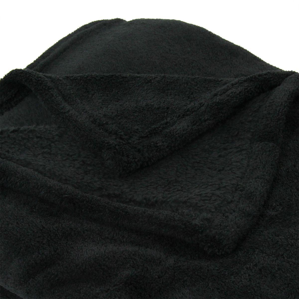 plaid polaire 150 cm tendresse noir plaid cocooning eminza. Black Bedroom Furniture Sets. Home Design Ideas
