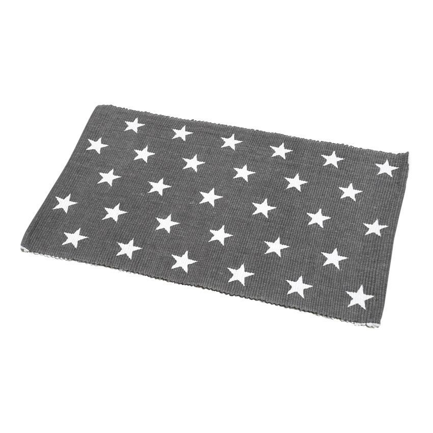 tapis de bain etoiles gris tapis salle de bain eminza. Black Bedroom Furniture Sets. Home Design Ideas