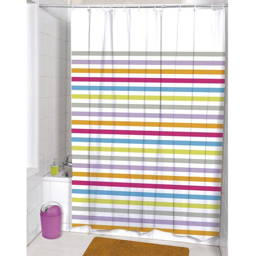 Rideau de douche colorama premium rideau de douche eminza for Rideau de douche colore