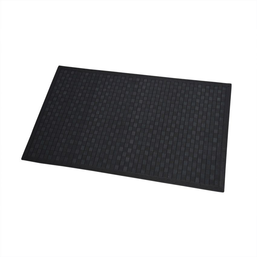 tapis de bain damier noir tapis salle de bain eminza. Black Bedroom Furniture Sets. Home Design Ideas