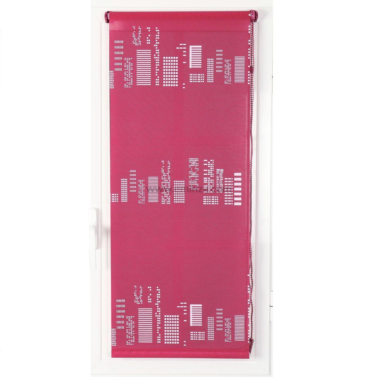 store enrouleur tamisant 90 x h180 cm gratte ciel fuchsia store enrouleur tamisant eminza. Black Bedroom Furniture Sets. Home Design Ideas