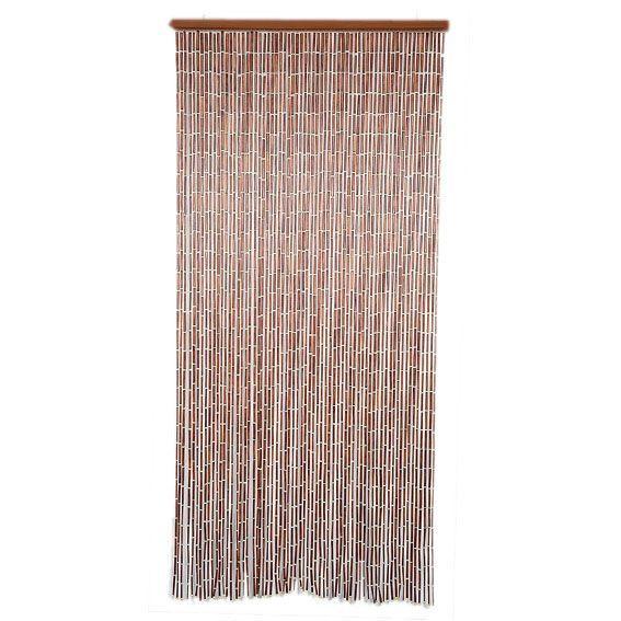 rideau de porte 90 x h200 cm perles bois chocolat clair rideau de porte eminza. Black Bedroom Furniture Sets. Home Design Ideas
