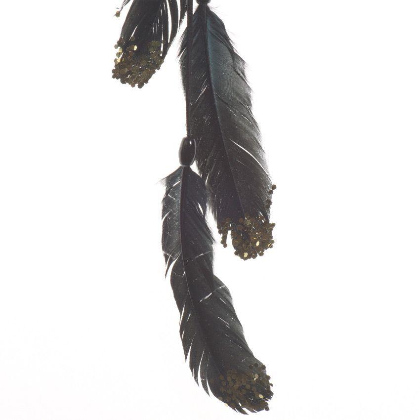 suspension plume grande taille noir d coration suspendre eminza. Black Bedroom Furniture Sets. Home Design Ideas