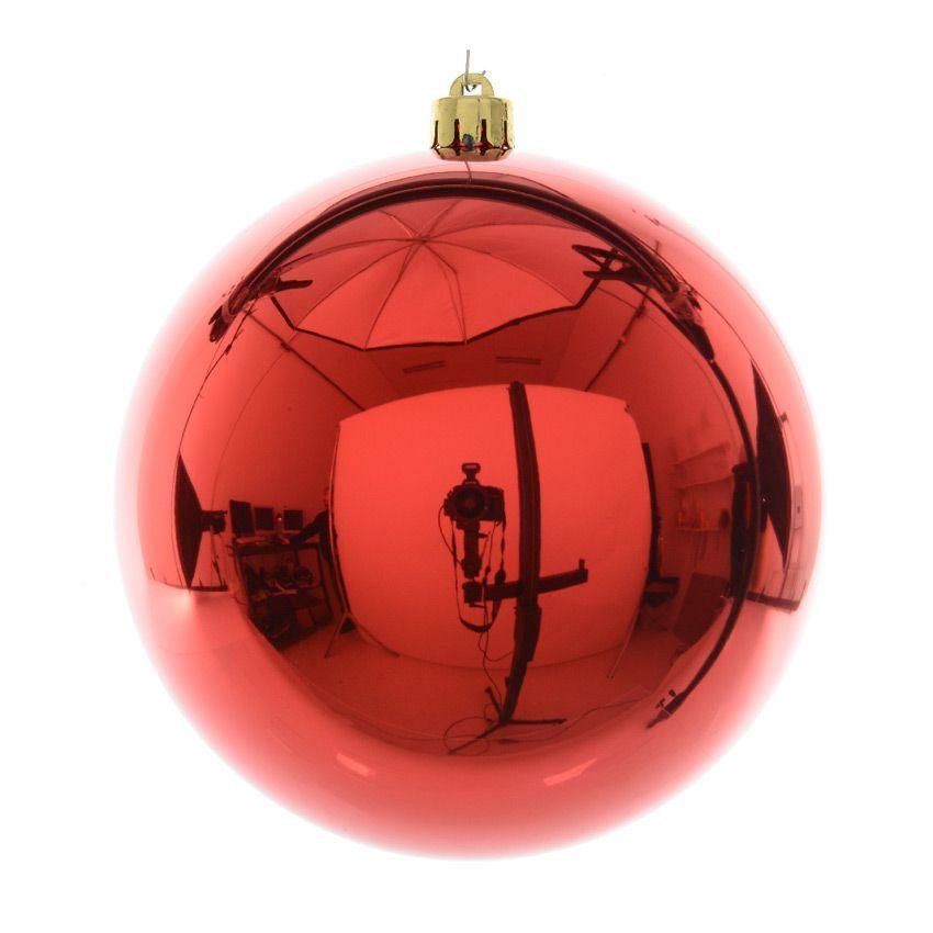 Boule de no l d200 mm magic uni rouge boule de no l eminza - Grossiste boule de noel ...