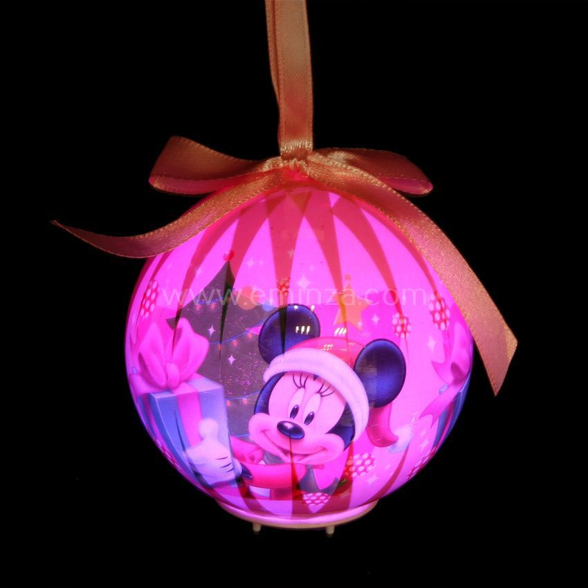 boule de no l lumineuse disney minnie boule de no l eminza. Black Bedroom Furniture Sets. Home Design Ideas
