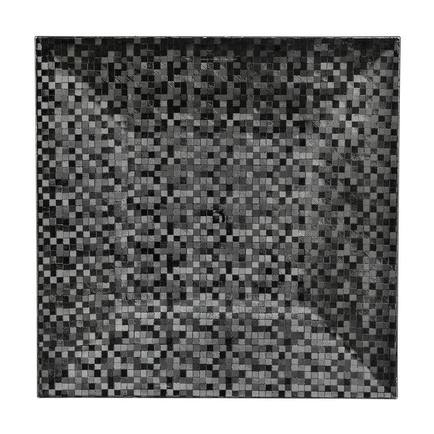 lot de 12 dessous d 39 assiette pixelis e noir d coration pour la table eminza. Black Bedroom Furniture Sets. Home Design Ideas