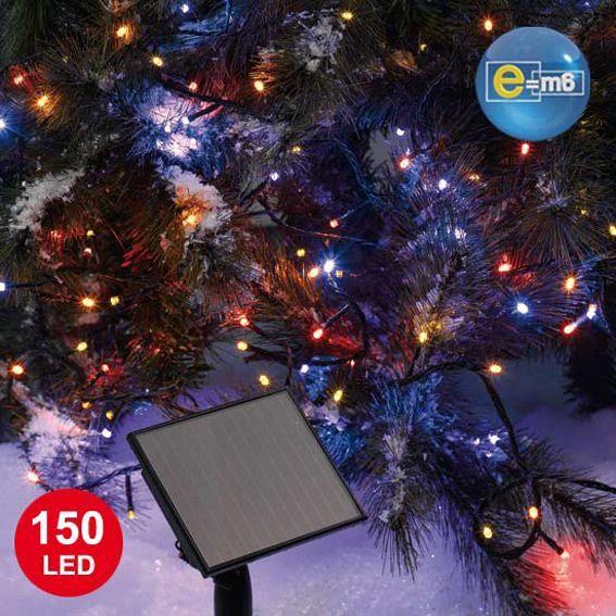 Guirlande lumineuse solaire 15 m multicouleur 150 led guirlande lumineuse eminza - Guirlande de noel solaire ...