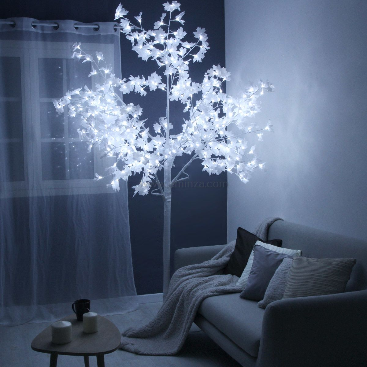 Erable Lumineux Thal S H250 Cm Blanc Froid Sapin Arbre Eminza # Image Lumineux