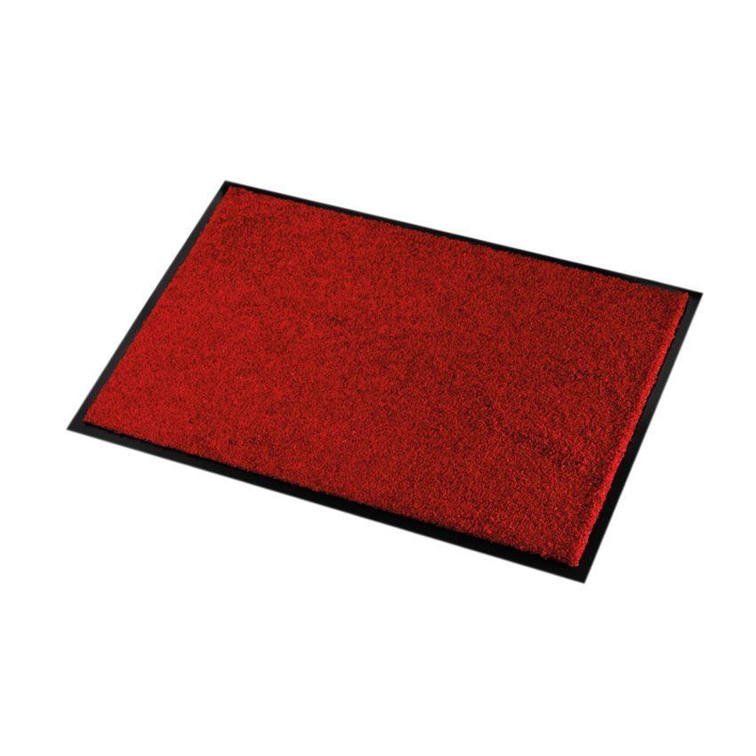 Tapis d 39 entr e 90 cm wash clean rouge tapis d 39 entr e - Tapis pour entree maison ...