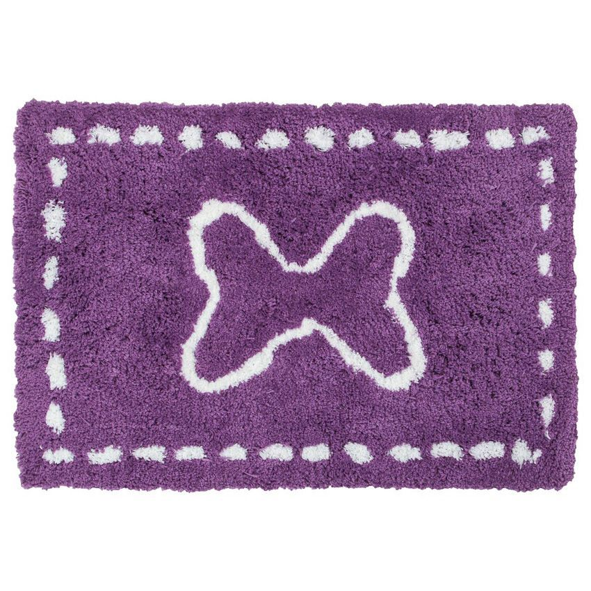 tapis microfibre 90 cm enfant violet tapis de chambre salon eminza. Black Bedroom Furniture Sets. Home Design Ideas