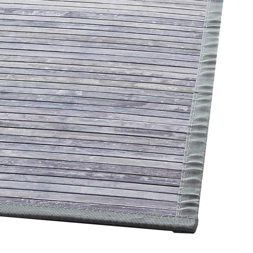 tapis lattes 170 cm bambou gris tapis de chambre salon eminza. Black Bedroom Furniture Sets. Home Design Ideas